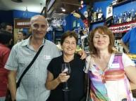 Simpático trio de amigos, José L, Asun y Nekane